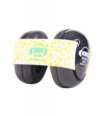 Black Ems for Bubs Baby Earmuffs - Lemon Floral