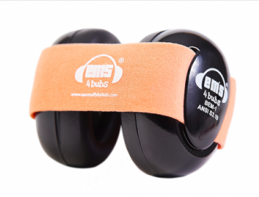 Black Ems for Bubs Earmuffs - Coral