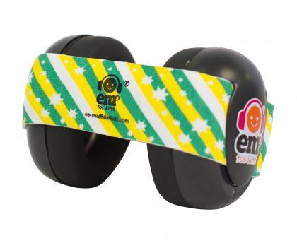 Ems for Kids Baby Earmuffs (BLACK) - Green n Gold Headband