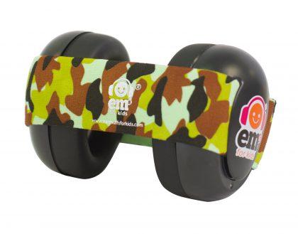 Ems for Kids Baby Earmuffs (BLACK) - Army Camo Headband
