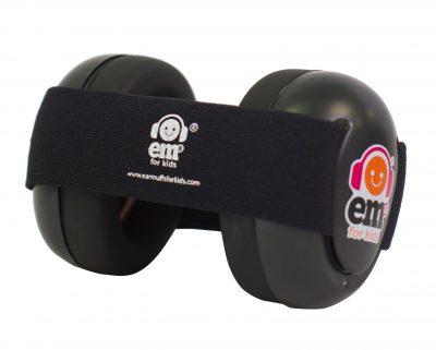 Ems for Kids Baby Earmuffs (BLACK) - Black Headband