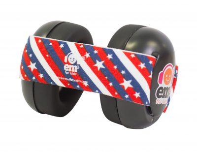 Ems for Kids Baby Earmuffs (BLACK) - Stars n Stripes Headband