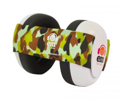 Ems for Kids Baby Earmuffs (WHITE) - Army Camo Headband