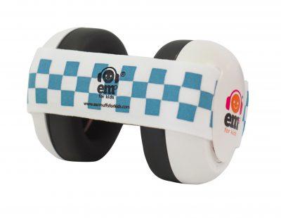 Ems for Kids Baby Earmuffs (WHITE) - Blue & White Headband